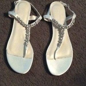 David's Bridal sandals Sz. 10M.